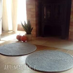 2 dywany classic gray, dywan, dywan ze sznurka, szydełkowy, ścisły