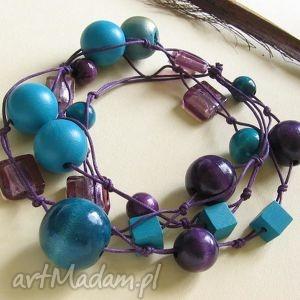 hand made korale violetta - długie korale