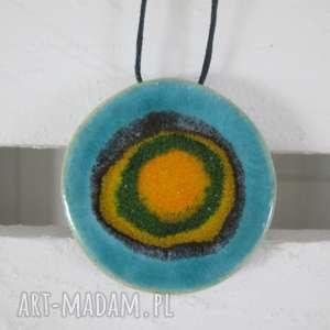 energetyczny wisior ceramiczny, wisior, etniczny, boho, biżuteria