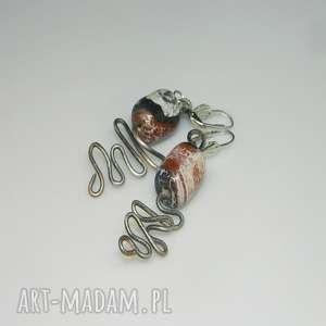 agat w miedzi-k1, kolczyki, agat, unikatowa-biżuteria, unikalne-kolczyki