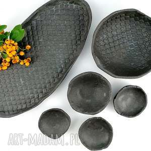 Zestaw ceramiczny ceramika polepione patera, talerz, dekoracje