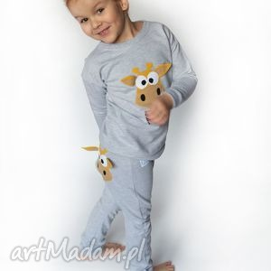 ręcznie zrobione ubranka bluza żyrafa