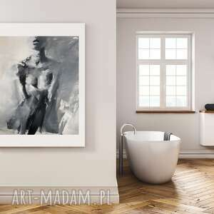 "Obraz ""woman 72x88cm"" galeria alina louka duży do salonu, czarno"