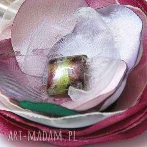 Broszka przypinka z materiału, broszki, broszka, przypinka, tkaninowa