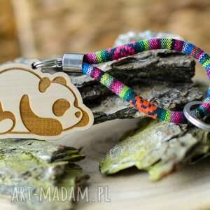 brelok do kluczy boho panda z drewna klon azteqez, kluczy