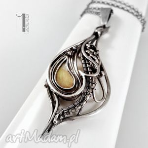 hidden srebrny naszyjnik z miedzią - wirewrapping, srebro, 925, miedź, prezent