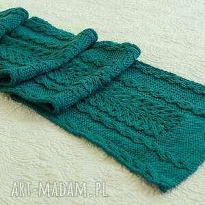ręcznie robione szaliki szal w morskiej zieleni