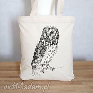 eko torba na zakupy sowa płomykówka, torba, eko, ekologiczna, zakupy