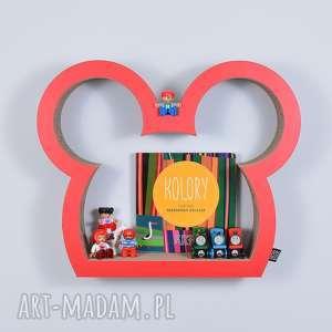 pokoik dziecka półka na książki zabawki myszka ecoono czerwony