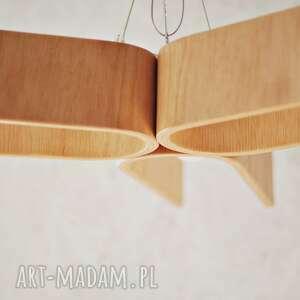 lampa wisząca ze sklejki gietej 3 u otwarte, żyrandol, lampa, oświetlenie