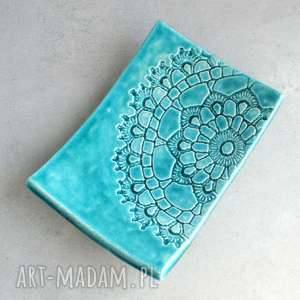 ceramika mydelniczka ceramiczna, mydelniczka, łazienka, folk, ceramika, serwetka