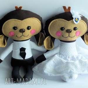para ślubna - małpka mniejsza, ślub, para, małpka, dekoracja, prezent, elegancka