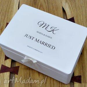 Ślubne pudełko na koperty Personalizowane Kopertówka, kuferek, pudełko-wspomnień