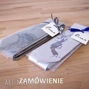 zamówienie indywidualne, krawat, nadruk, śledź, prezent