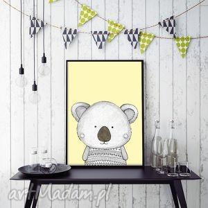 Koala A3, koala, dziecko, pokój, plakat, ilustracja, obrazek