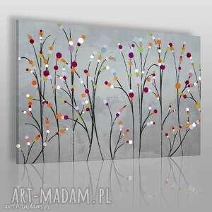 obraz na płótnie - abstrakcja kwiaty 120x80 cm 52501, abstrakcja, nowoczesny
