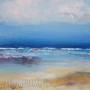święta, rajska plaża, obraz olejny, morze, wakacje, pejzaż, malarstwo