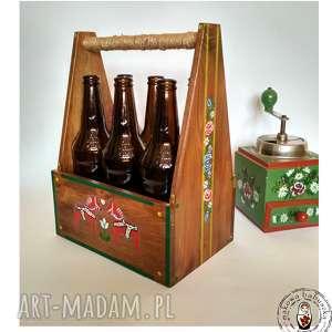 Skrzynka na piwo koniki folk pudełka makowa babuszka koniki