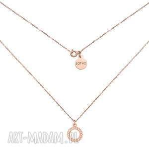 naszyjnik z rozetką z różowego złota - łańcuszek