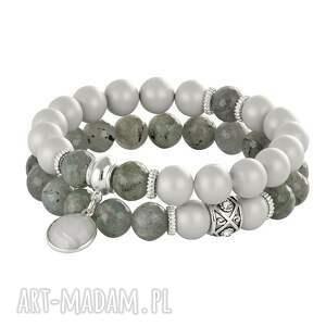 handmade bransoletki pearly chic - grey