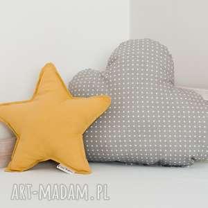 handmade pokoik dziecka zestaw 2 poduch musztardowo-szary