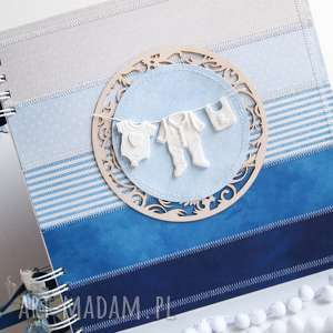 Prezent Album Dziecięce pranie niebieski/25x25cm, album, chrzest, chłopiec