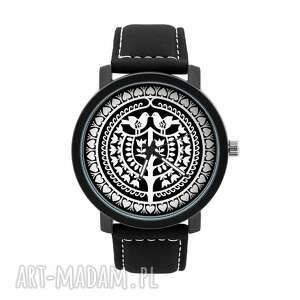 Zegarek męski z grafiką kurpiowski zegarki ludowelove kurpie