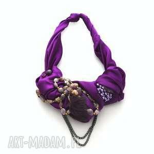 ULYTRA VIOLET naszyjnik handmade, naszyjnik, kolia, fiolet, purpura