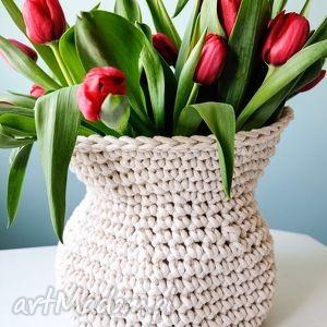 kosz antico, kosz, wazon, dekoracja, sznurek bawełniany, rękodzieło, pod choinkę