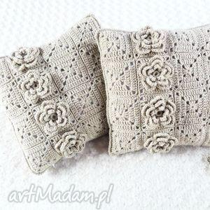 poduszki robione ręcznie wełna 40x40 cm 2szt, wełnahandmade, poduszki, poduszka