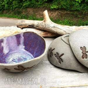 miseczki ceramiczne c243, miseczki, ceramiczna, ważka, miska, kamionka