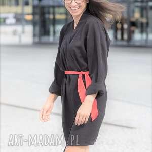 Sukienka - kimono Daffodile, czarna, kimono, sukienka, sylwester, wigilia, spodnica