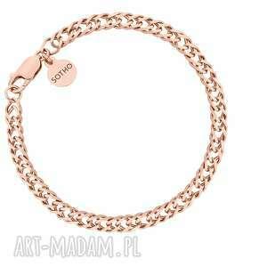 masywna bransoletka z różowego złota, łańcuch, bransoletka, gruba