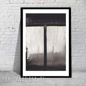 obrazy grafika nowoczesna do salonu, czarno-biała abstrakcyjna, minimalizm