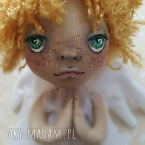 figurka tekstylna aniołek słoneczko chmurne - na ścianę, anioł