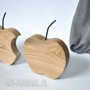 jabłko dębowe - minimalist oak apple, jabłko, dekoracja, drewniane