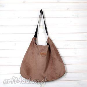 torba na ramię julia brązowa, torba, pojemna, duża, prezent, kobieta