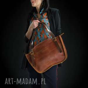 Prezent ręcznie robiony kuferek torba torebka ładybuq art skórzana solidna wytrzymała
