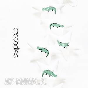 crocodiles - girlanda, krokodyl, gwiazdki, girlanda pokoik dziecka