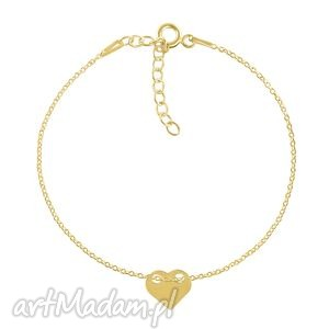 celebrate - heart 2 - bracelet g - celebrytka