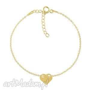 bransoletki celebrate - heart 2 bracelet g, serce, celebrytka, łavoga