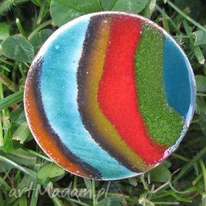broszka fantazja - ceramiczna, kolorowa