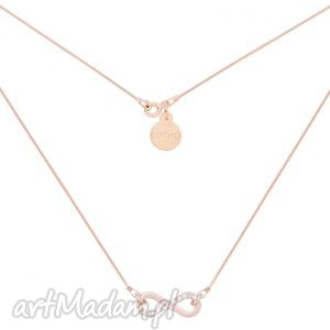 Naszyjnik z różowego złota zdobiony nieskończonością kryształkami SWAROVSKI®