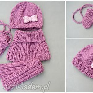 zamówienie p julii, czapka, komin, getry, rękawiczki, zima, dziecko