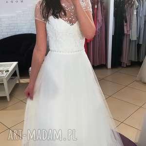 suknia ślubna nowa, model z salonu - wyprzedaż kolekcji rozmiar 36