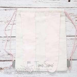 Plecak worek dla dziecka Królik (Różowe uszy), len