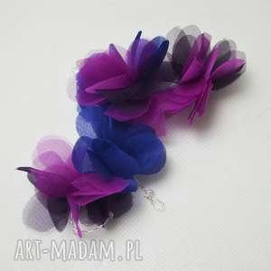 OZDOBA DO WŁOSÓW, fuksja, jedwab, niebieski, fiolet, fascynator