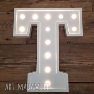 podświetlana litera t - lampka, lampa, litera, typografia, sypialnia, dziecko