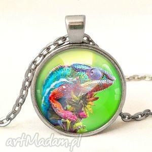 egginegg kameleon - medalion z łańcuszkiem - jaszczurka, naszyjnik