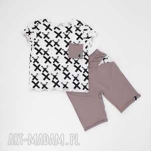 hand made ubranka spodenki i koszulka krzyzyki stalowe